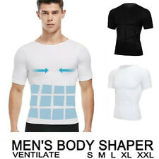 Men's Seamless Slimming Body Shaper Vest Tummy Control Belly Compression T-Shirt