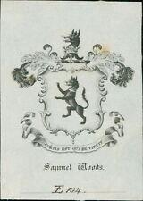 'Samuel Woods' Bookplate (JC.183)