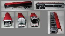 NEW BLACK TRIP AXLE DCP 1/64 WILSON BELT TRAILER W/ RED TARP