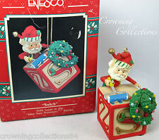 Enesco Snitch Elf Ornament Wee Tree Trimmers 5th North Pole Village Letter Block