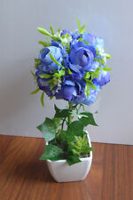 Artificial Purple Blue Flower Ball Potted