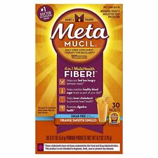 Metamucil Daily Fiber Supplement, Orange Smooth Sugar Free Psyllium Husk...