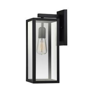 Globe Electric Hurley 1-Light Black Outdoor Wall Lantern Sconce 44314