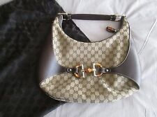 SUPERBE SAC A MAIN GUCCI BAMBOO MONOGRAMME COMME NEUF