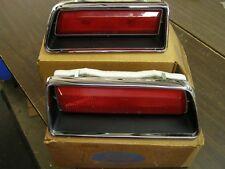 NOS OEM Ford 1971 Galaxie 500 LTD Tail Light Lamp Bezels Trim Lenses Assembly