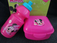 DISNEY ZAK! MINNIE MOUSE 2 PIECE SNACK SET WATER BOTTLE & CONTAINER NEW in BOX