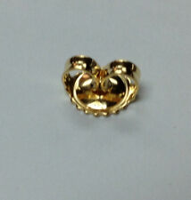 18Kt 18K Yellow 6.5MM Earring Back Large Over-sized
