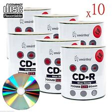 6000-Pack Smartbuy Blank CD-R 52X 700MB/80Min Shiny Silver Top Record Media Disc