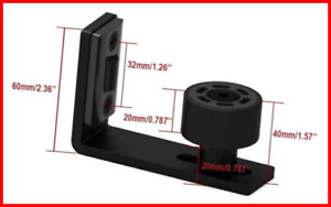 Adjustable Floor Guide Wall/Door Bottom Guide Sliding Barn Door Hardware Black