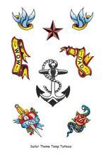 Anchor sailor pirate temporary tattoos