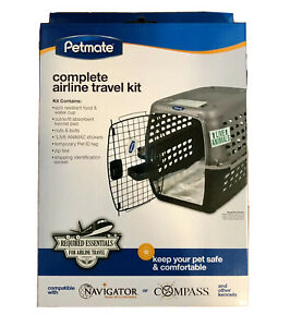 Petmate Complete Airline Travel Kit NIB Your Pet's Airplane Travel Essentials