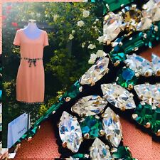 PRADA Swarovski Kleid DE 38/40 IT 42/44 🍑 Smaragd Kristall Gürtel +Chanel Bügel