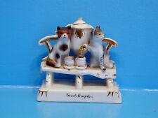 "Victorian - Cats on a Bench Serving Tea from an Urn ""Good Templars"""