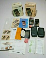 Lot doc notice  boite Calculatrice Programmable Texas Instruments TI 57 58C 59