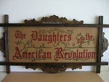 Daughters of the American Revolution motto , ANTIQUE STYLE, kit to stitch NEW