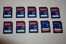 Lot of 10 SD Memory Cards 8gb SanDisk