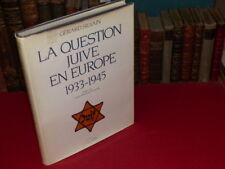 [JUDAICA WW2 SHOAH ANTISEMITISME] G.SILVAIN - QUESTION JUIVE EN EUROPE 1933-1945
