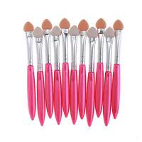 10Pcs Women Girl Makeup Brush Eye Shadow Eyeliner Brush Sponge Applicator Tool