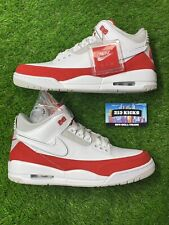 Men's Air Jordan 3 Tinker White University Red Shoes Size 10  NEW STEAL🔥