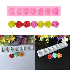 1PC 7 Rose Flower Silicone Mold Home Party Cake Chocolate Baking Mold Decor Tool