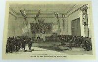 1883 small magazine engraving ~ Scene In The Legislature, Honolulu