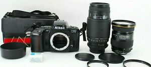 Ex+3 Tokina AT-X PRO 28-70mm f/2.8 Lens Nikon F-601 Sigma 75-300 f/4.5-5.6 Japan