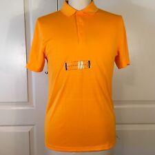Nike Mens Size Small Polo Golf Embossed Dri-Fit 725522-868 Vivid Orange
