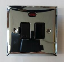 Knightsbridge 13A Fuse Spur Switch with Neon & Screws Switched Fused Unit Silver