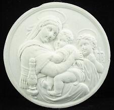 Médaillon religieux Vierge Marie Virgin Maria en plâtre essai medal