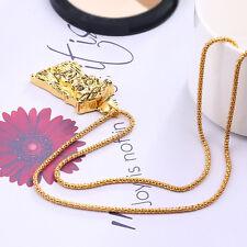 New Charm Men Boy Hip Hop Necklace Long Gold Necklace Jesus Piece Pendant Chain