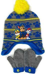 Nickelodeon Kid's Paw Patrol Hat & Gloves One Size Blue & Grey