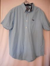Chaps Short sleeve Size L  cotton Blue checked Shirt