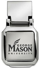 new! GEORGE MASON University Patriots ENGRAVED SILVER SPRING LOADED MONEY CLIP