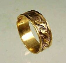 VINTAGE 10K ROSE GOLD BABY RING WITH SCROLL DESIGN