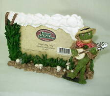 nib 3x5 Picture Frame Frog Banjo music Cottage Collectibles Ganz Floyd My Song