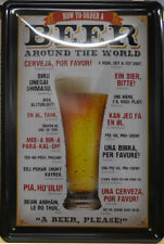 Beer - How to order a Beer AROUNG THE WORLD - Tin Sign - 30 x 20 cm (BS 862)