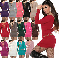 Sexy Womens Jumper Top Sweater Ladies Lacing Clubbing Blouse Size 6 8 10 12