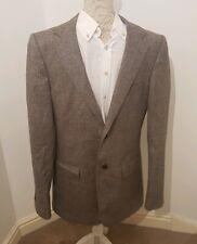 Sarar Cashmere Silk Wool Blend Mens Blazer Jacket Grey Size 40L
