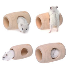 Animal Wooden Bed House Cage Molar Shaped Pet Rat Hamster Mouse Wooden Toy B