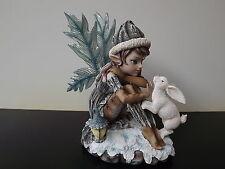 Grande Figurine Fée  Pixie avec Lapin - 24cm - Manga Sexy - NEUF - Réf AF060D