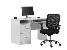 Alphason Office Uni White Student Computer Desk Workstation AW22813-WH