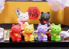 Iwako Lucky Good Fortune Cat Japanese Erasers 6 pcs S-3558