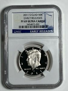 2011 S Clad NGC PF 69 UCAM Early Releases Proof Kennedy US Half Dollar 50C