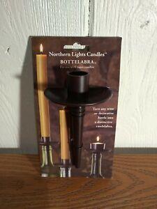 Bottelabra Wine Bottle Taper Holder Candle Holder Bronze Finish, New