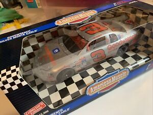 ERTL A M 1995 1/18th Dale Earnhardt SILVER #3 Goodwrench Buck Fever 1 Of 15.000