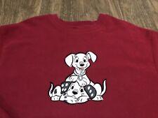Vintage 2000 Disney Store 102 Dalmatians Movie Large Red Sweatshirt