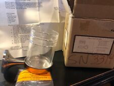 Pottery Barn Toothbrush & Cup Holder - White  satin nickel new in box