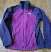 Womens Medium Two Toned Purple North Face Zip Fleece Jacket