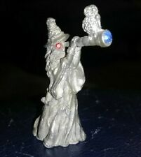 Vintage Spoontiques Pewter Wizard Spyglass Owl #913