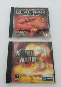 Real War: Air Land Sea & World War III Black Gold CD ROM PCGame Lot of 2 (I-1)